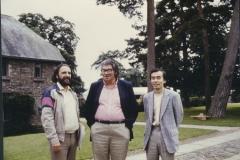With Morton Feldman and Jo Kondo at Dartington, 1986