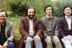 Oliver Butterworth, Frank Denyer, Jo Kondo and Yoshikazu Iwamoto at Dartington, circa 1987