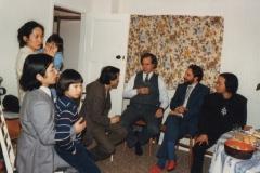 With Iwamoto family, Jim Fulkerson, Somei Satoh and Jo Kondo, Dartington 1987