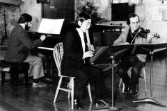 With Yoshikazu Iwamoto and Oliver Butterworth at Dartington, 1985