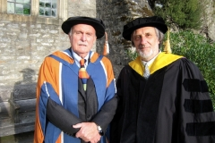 With Alvin Lucier in academic wear, 2007