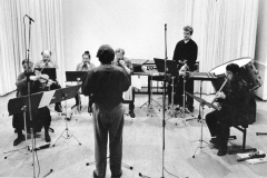 "Rehearsing ""After the rain"" with the Barton Workshop, Amsterdam, 1985"