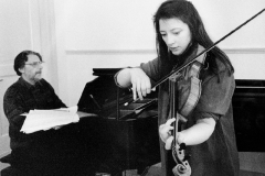 Rehearsing with Elisabeth Smalt, circa 2004