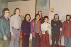 With Alvin Lucier Namino Torii, Toru Takemitsu, Lowell Svennungsen and students, Wesleyan univesity, 1977